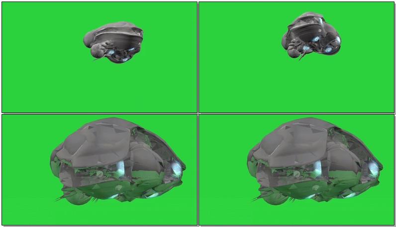绿屏抠像外星飞行器飞船视频素材