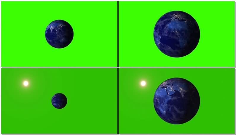 绿屏抠像旋转的地球视频素材