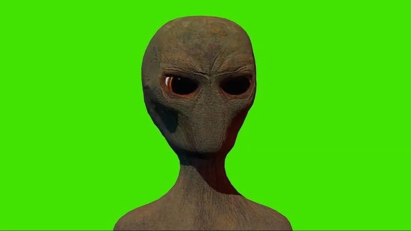 绿屏抠像外星生物ET视频素材
