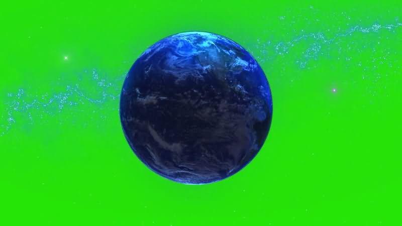 绿屏抠像地球与银河系视频素材