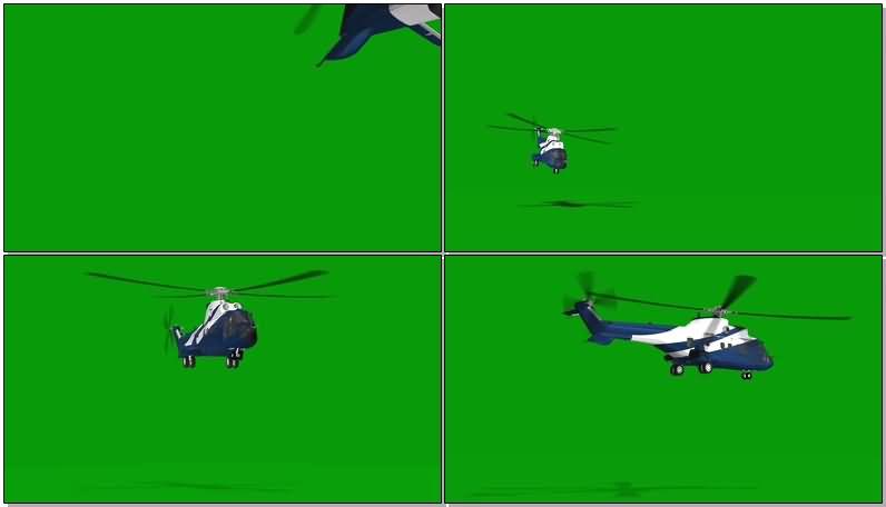 绿屏抠像救援直升飞机视频素材
