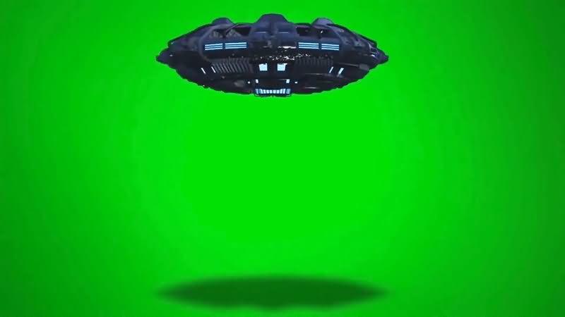 绿屏抠像UFO飞碟视频素材
