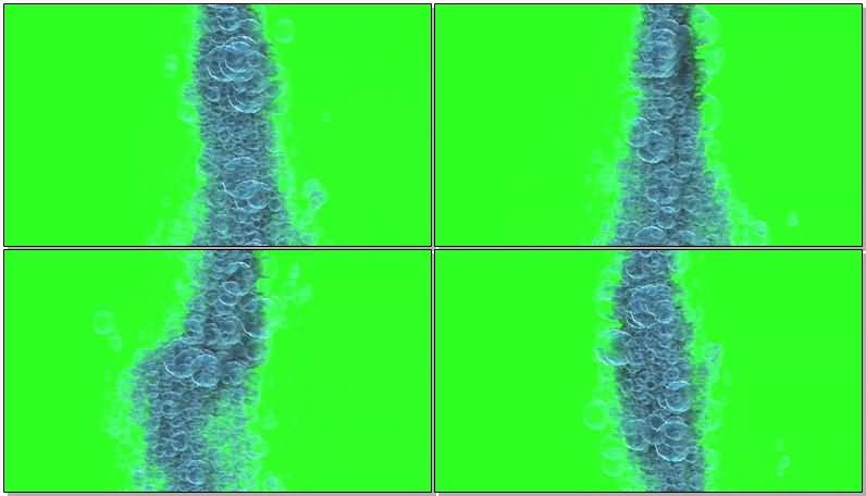 绿屏抠像蓝色的泡沫视频素材