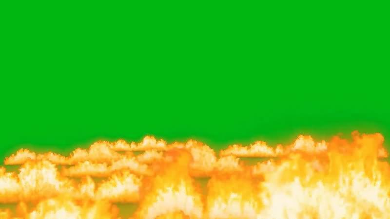 绿屏抠像燃烧的火海视频素材