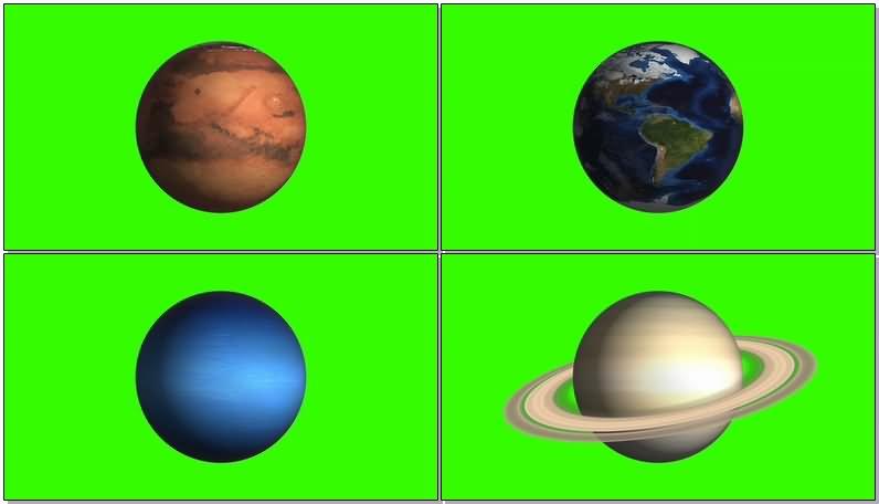绿屏抠像星球视频素材