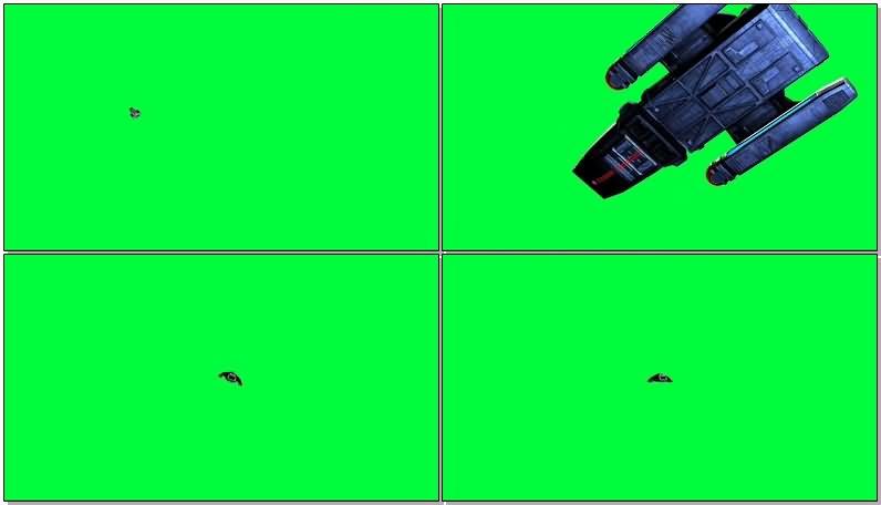 绿屏抠像星际迷航战舰视频素材