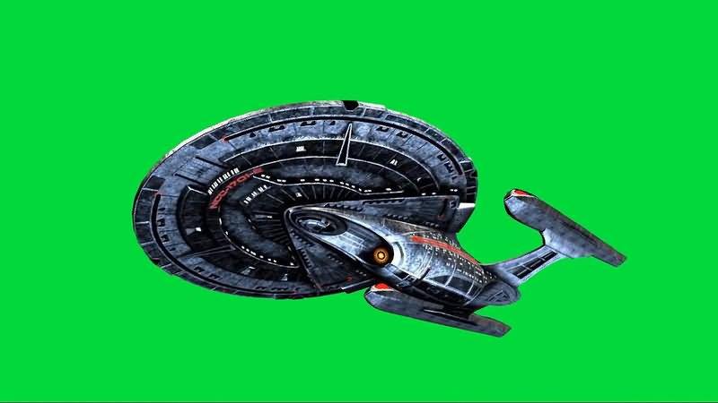 绿屏抠像星际迷航大型战舰视频素材