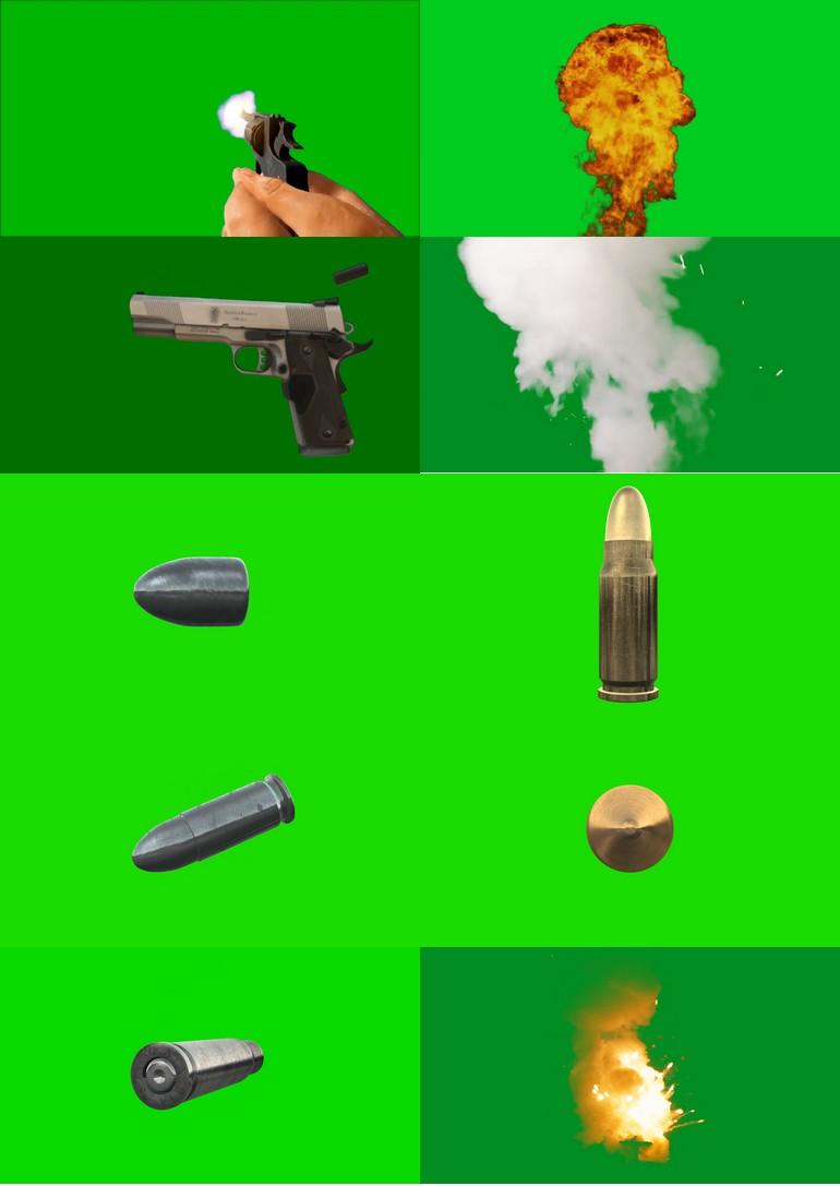 绿屏_绿布_绿幕火焰燃烧|子弹枪械|导弹|手雷爆炸|视频素材打包100部第三套