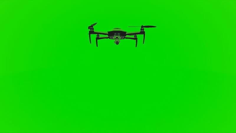 绿屏幕抠像无人机视频素材