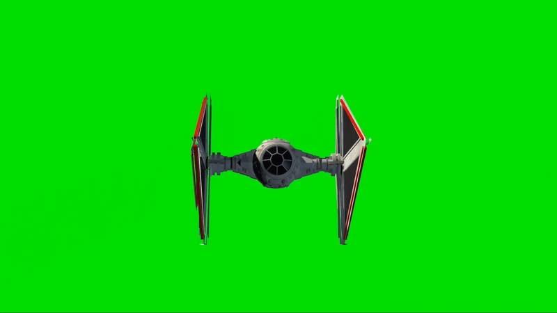 绿幕视频素材TIE匕首截击机