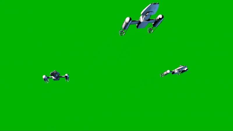 绿幕视频素材Y翼战斗机