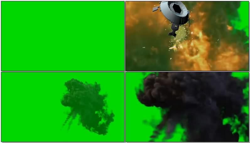绿幕视频素材击落战机