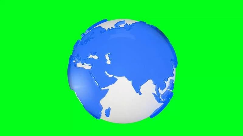 绿幕视频素材旋转地球