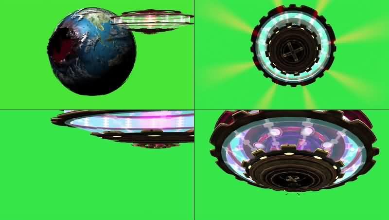 绿幕视频素材外星入侵