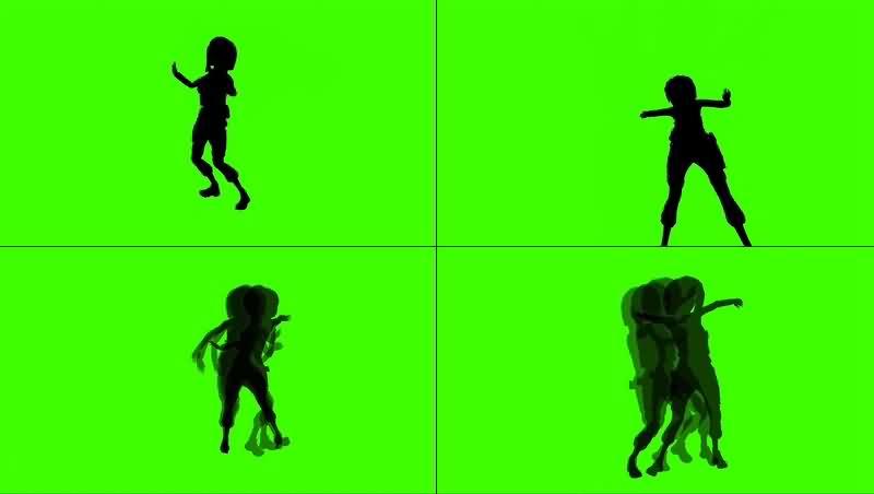 绿幕视频素材跳舞女孩