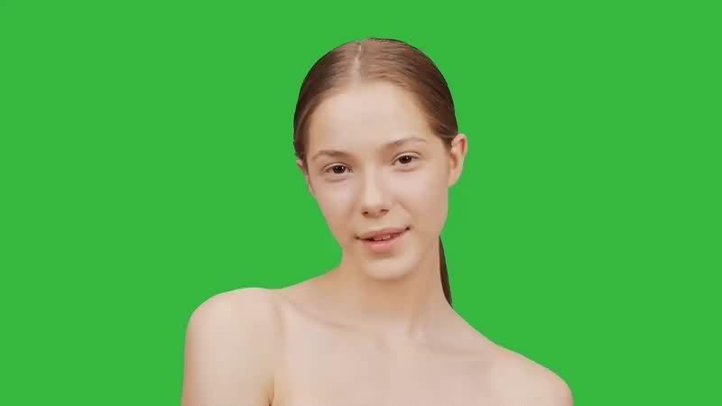 绿幕视频素材美女模特