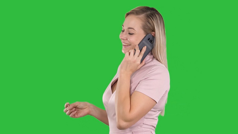 绿幕视频素材打电话