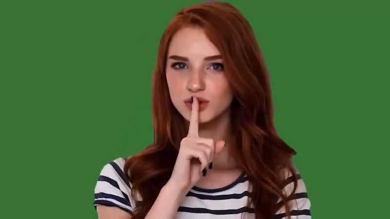 绿幕视频素材美女表情