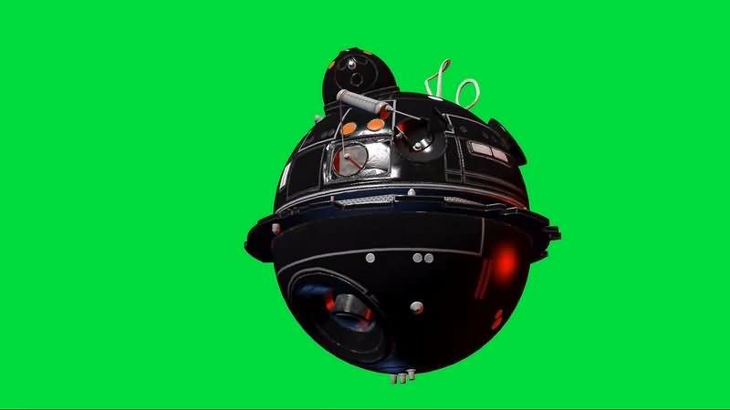 绿幕视频素材IT-O球形机器人