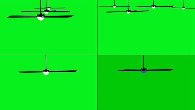 绿幕视频素材吊扇
