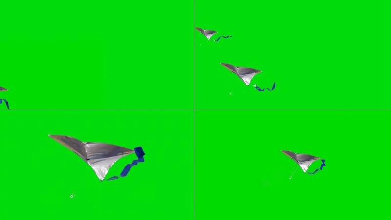 绿幕视频素材风筝
