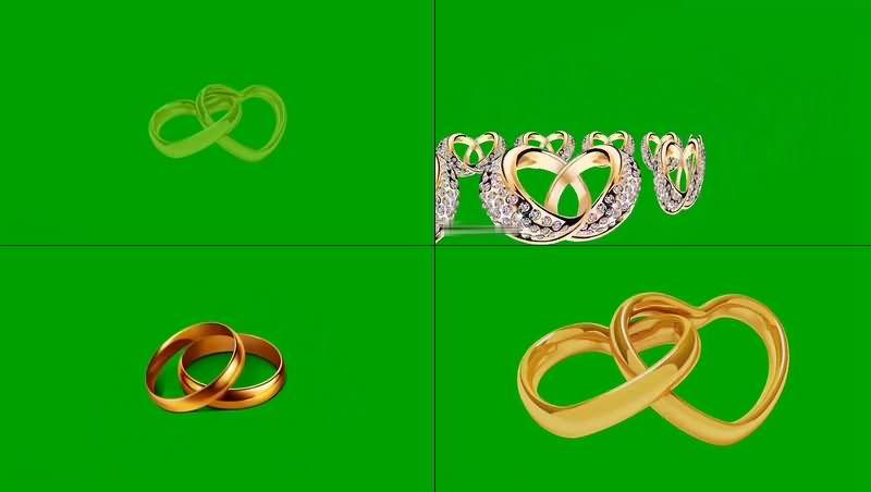 绿幕视频素材婚戒