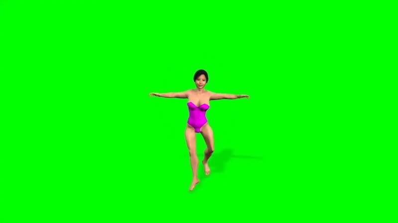 绿幕视频素材芭蕾舞女