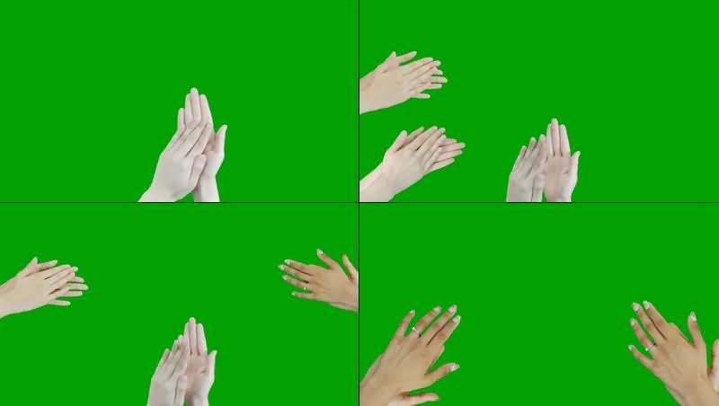 绿幕视频素材拍手