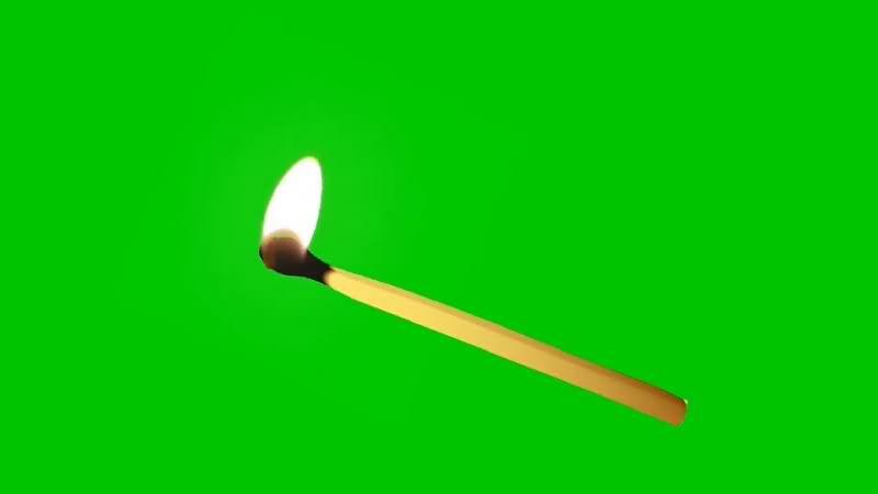 绿幕视频素材火柴