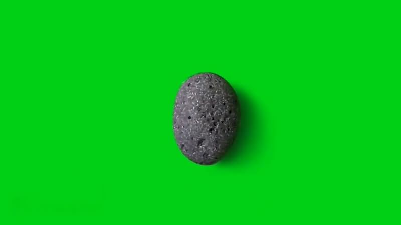 绿幕视频素材石头