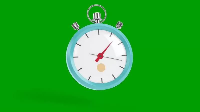 绿幕视频素材秒表