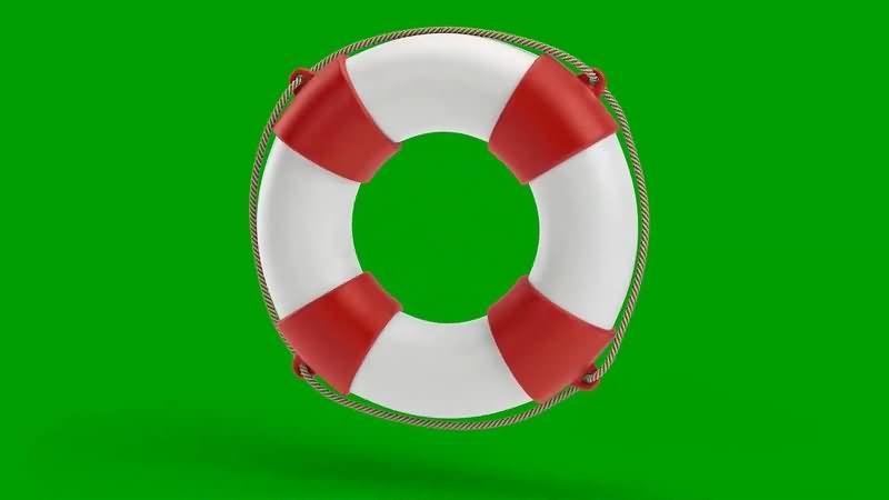 绿幕视频素材救生圈