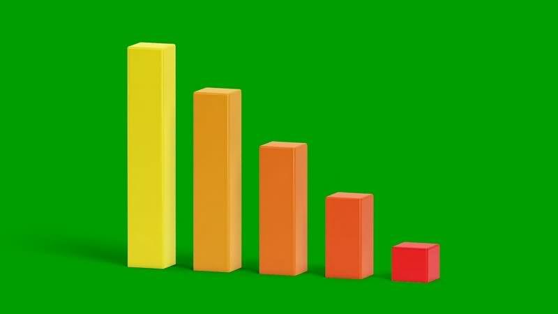 绿幕视频素材条形图表