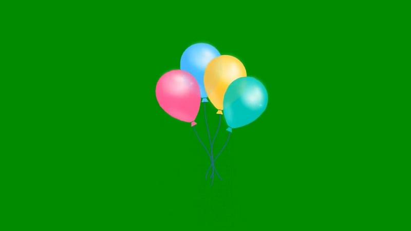 绿幕视频素材气球