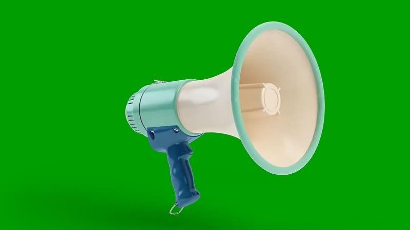绿幕视频素材喇叭