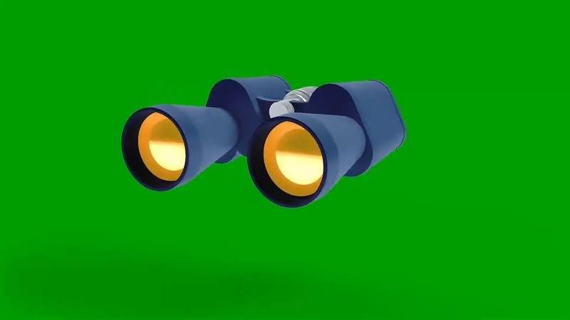绿幕视频素材望远镜