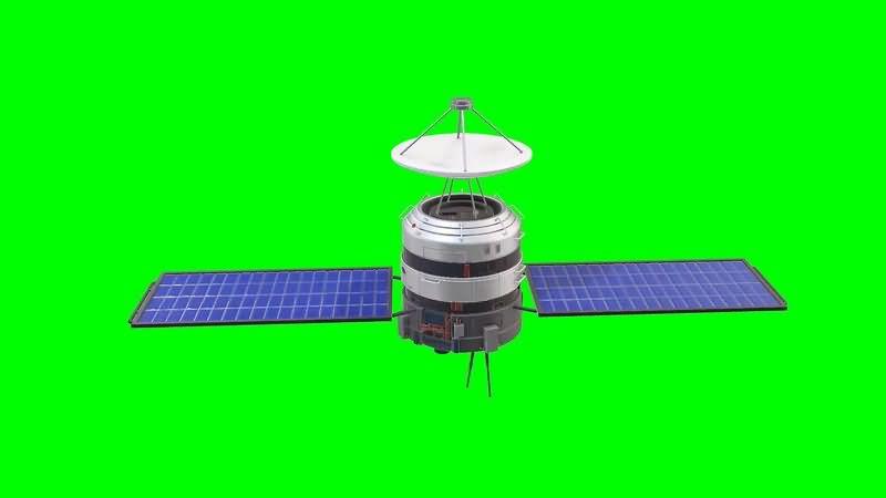 绿幕视频素材卫星