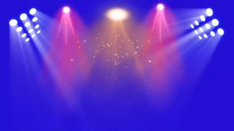绿幕视频素材舞台灯光