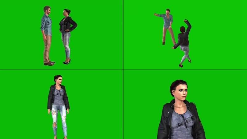 绿幕视频素材小贝夫妇