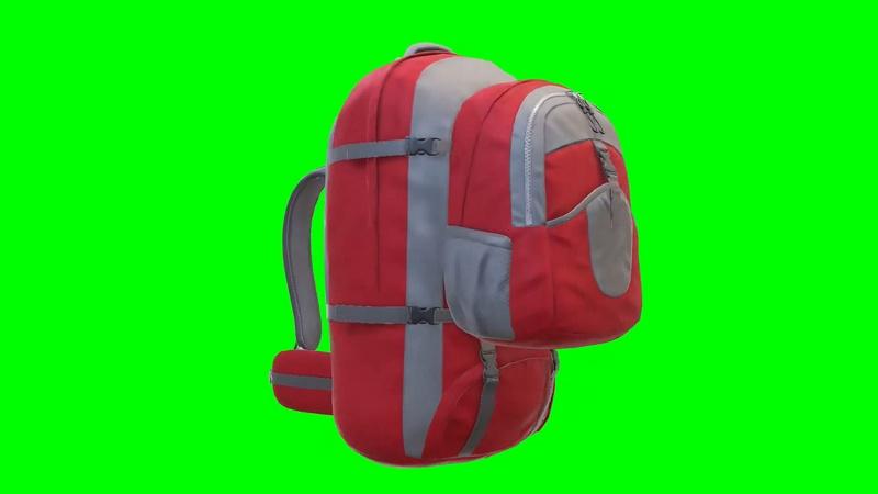 绿幕视频素材背包