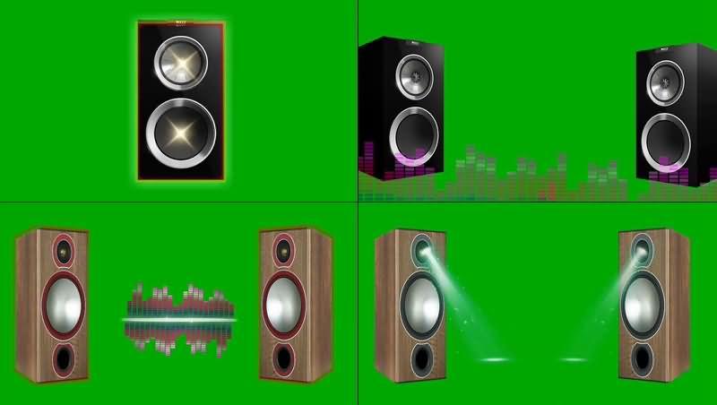 绿幕视频素材音箱