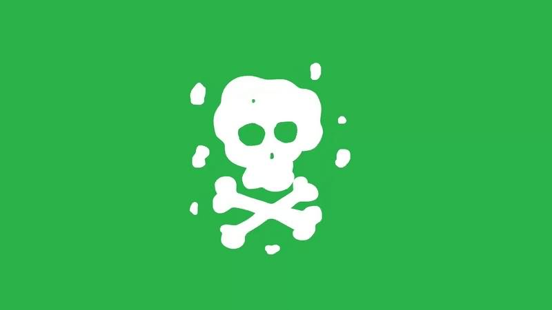 绿幕视频素材骷髅