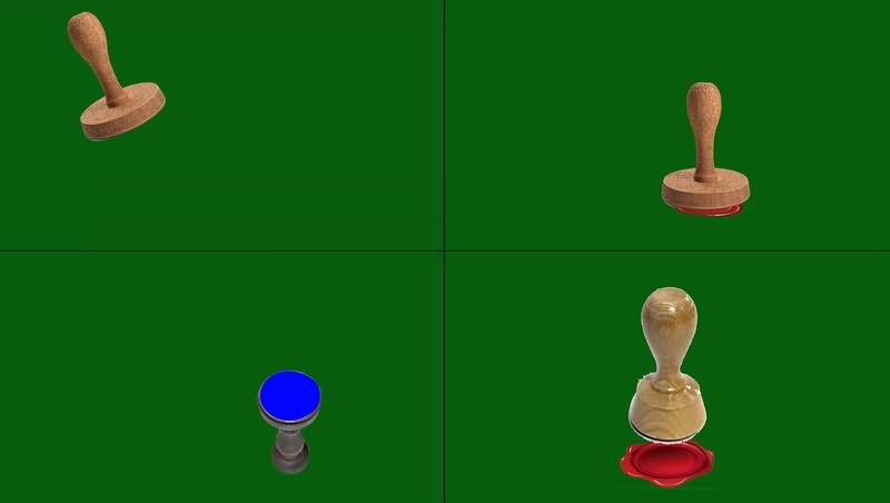 绿幕视频素材印章