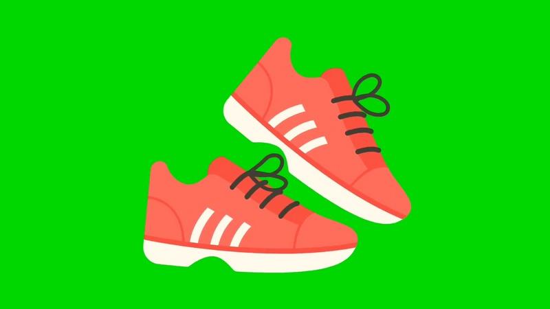绿幕视频素材运动鞋