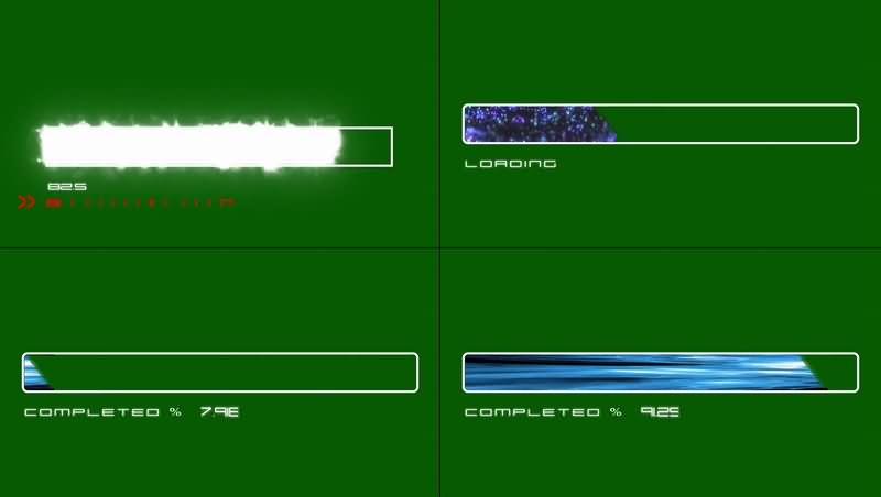 绿幕视频素材进度条