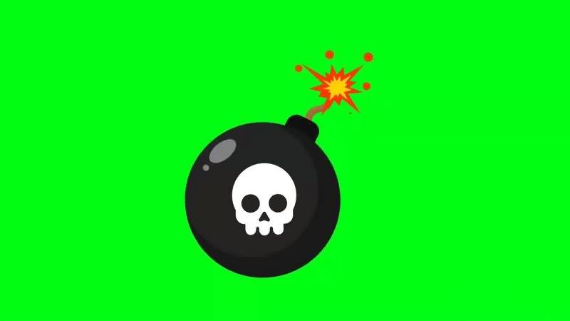 绿幕视频素材炸弹