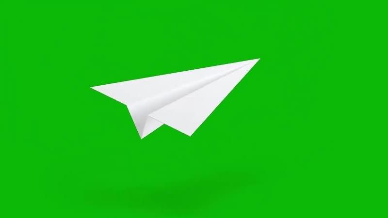 绿幕视频素材纸飞机