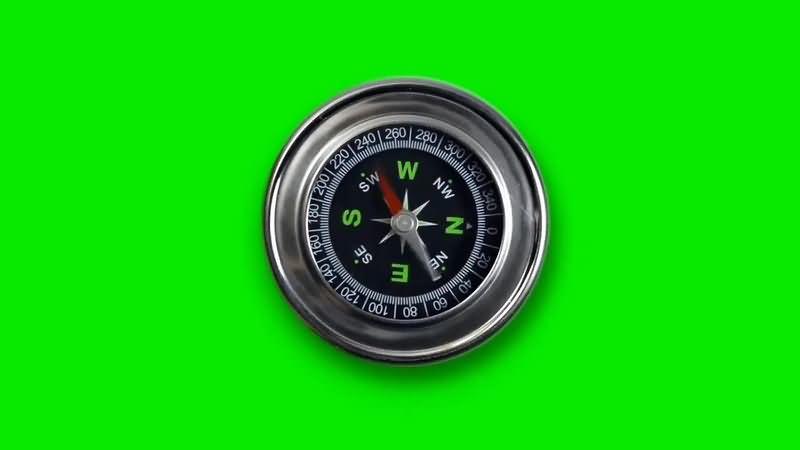 绿幕视频素材指南针