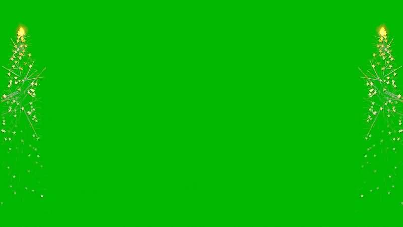 绿幕视频素材金光边框