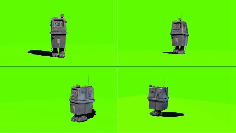 绿幕视频素材Gonk droid机器人
